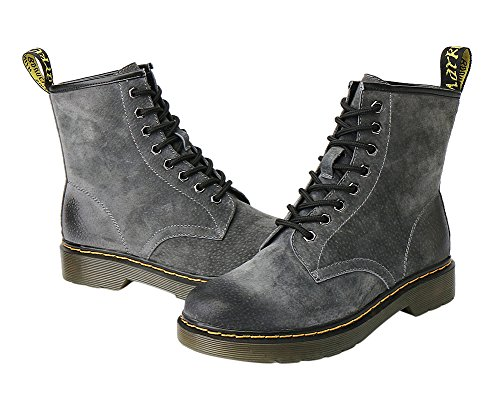 Gray Fashion Men 1bacha Tortor Big Kid Combat Boots Adult Lace up Women Leather Fx7xX0w6q