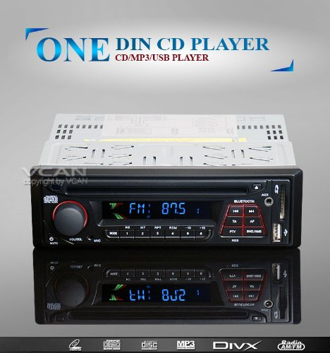 Cd Colorful (Plexon Car 1DIN CD Bluetooth MP3 USB SD AM FM RDS player with a Colorful LCD Display, Sold As 1 Each)