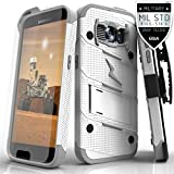Samsung Galaxy S7 Case, Zizo [Bolt Series] w/ [Galaxy S7 Screen Protector] Kickstand [12 ft. Military Grade Drop Tested] Holster Clip - Galaxy S7 G930