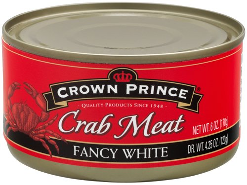 Crown Prince Fancy White Crab Meat, 6-Ounce Cans (Pack of 12) - Crab Meat Soup