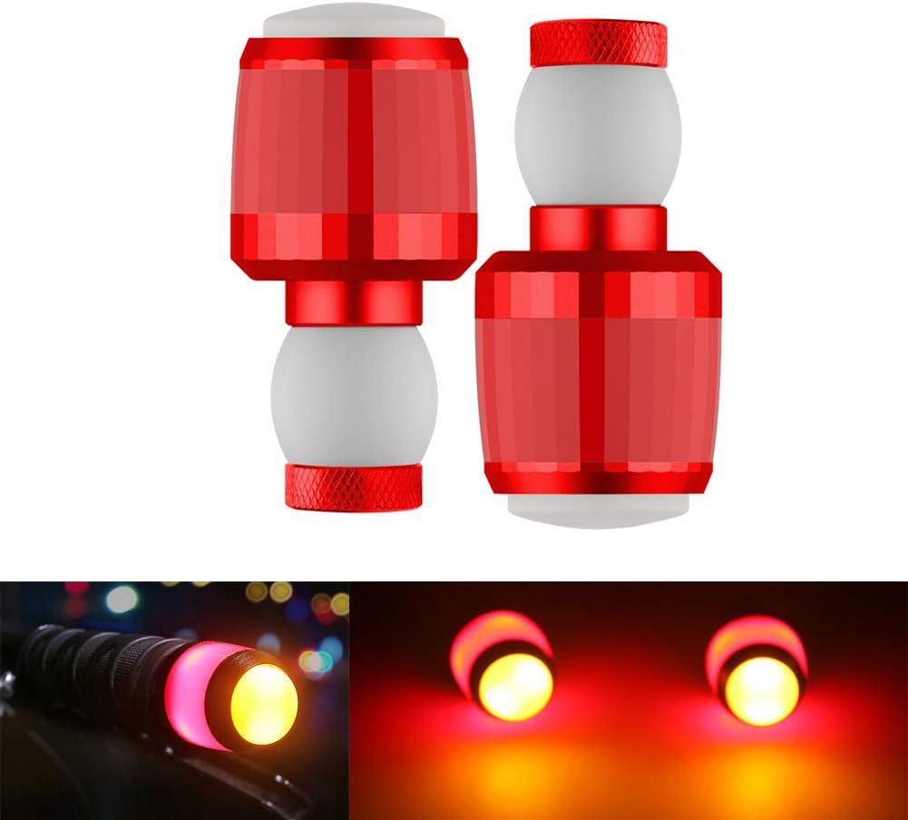 1 Pair Handlebar Indicator Light LED Turn Signal Indicator Safety Warning Lamp Red Yosoo Health Gear Bicycle Direction Indicators