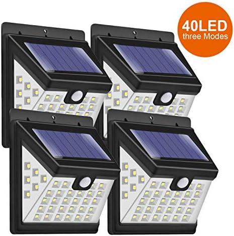 Solar Lights Outdoor, MODAR 40 LED Solar Motion Sensor Lights 3 Modes with 270 Wide Angle, Wireless PIR Waterproof Solar Security Lights for Outdoor Garden Wall