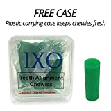IXO Aligner Seater Chewies for Invisalign Aligners, Mint Scent, Free Carry Case for Travel and Storage