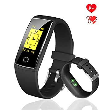 b904be986e Amazon | ACTENLY 改良版 スマートウォッチ 歩数計 活動量計 血圧計 心拍 ...