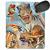 Mouse Pad with Design Jurassic Various Dinosaurs Selfie for Computer Office Gaming