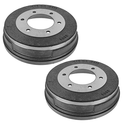 Nissan Rear Brake Drum - Brake Drum Rear LH RH Pair Set for Nissan D21 Hard Body D720 Frontier Pathfinder