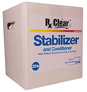 RX Clear Swimming Pool Conditioner/Stabilizer (25 Lbs)