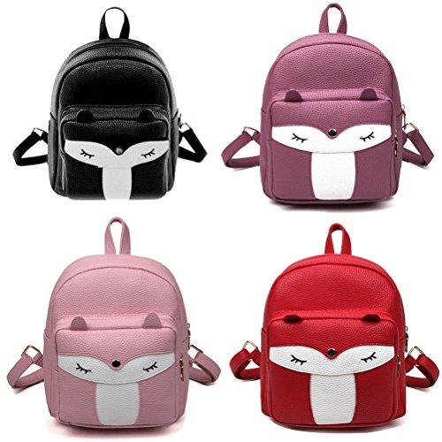 Cute Donalworld School Leather Cartoon Backpack Col10 Women PU Shoulder Bag Owl x1qSTwt1