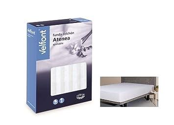Velfont Funda de colchón elástica Atenea Blanca (150 cm): Amazon.es: Hogar