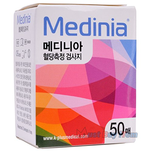 Medinia-Diabetic-Diabetes-Diabetic-Aids-Glucometer-Blood-Glucose-Meter-100-Test-Strips-Exp-102018-2-Box-New