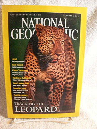 NATIONAL GEOGRAPHIC MAGAZINE OCTOBER 2001 Leopard Light Rain Forest Volcanoes