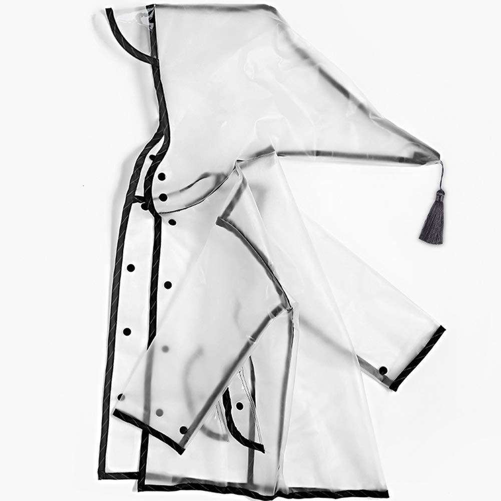 JinKen Kids Raincoat,Durable Translucent Rain Cape,Portable Hooded Poncho for Boys Girls
