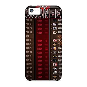 Bumper Cell-phone Hard Cover For Iphone 5c With Provide Private Custom Vivid Tampa Bay Buccaneers Series IanJoeyPatricia