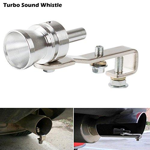 Universal car Turbo suono fischio silenziatore tubo di scarico asciugare vale Bov Simulator fischio taglia M Tools (colore argento) Haiyilu