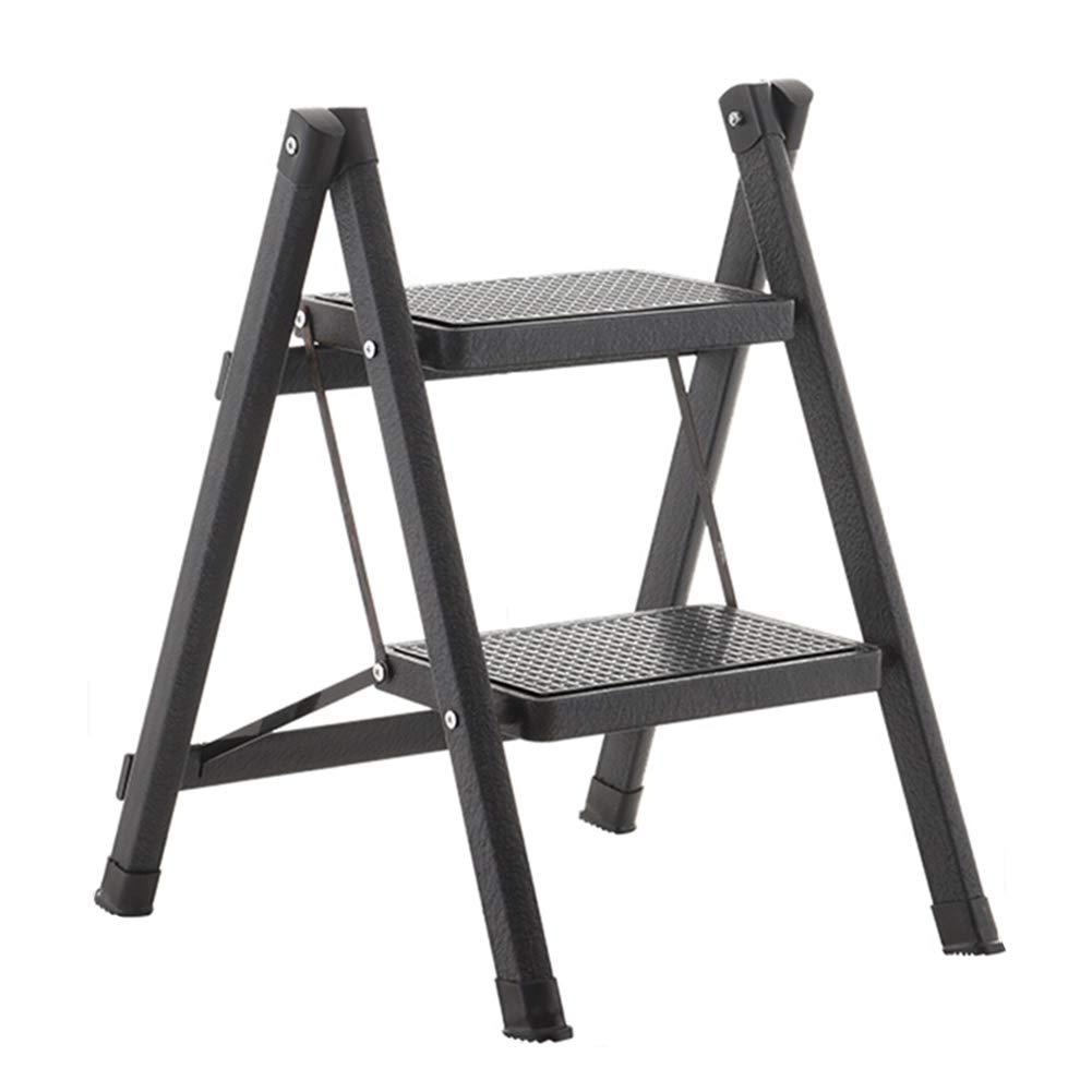 BLACK ZHAOYONGLI Ladder Stool Folding Stool Step Stool Ladder Foldable Ladder High Stool Portable Stool Adjustable Foot Rest Collapsible Household Shelf Creative Solid Durable Long Lasting (color   White)