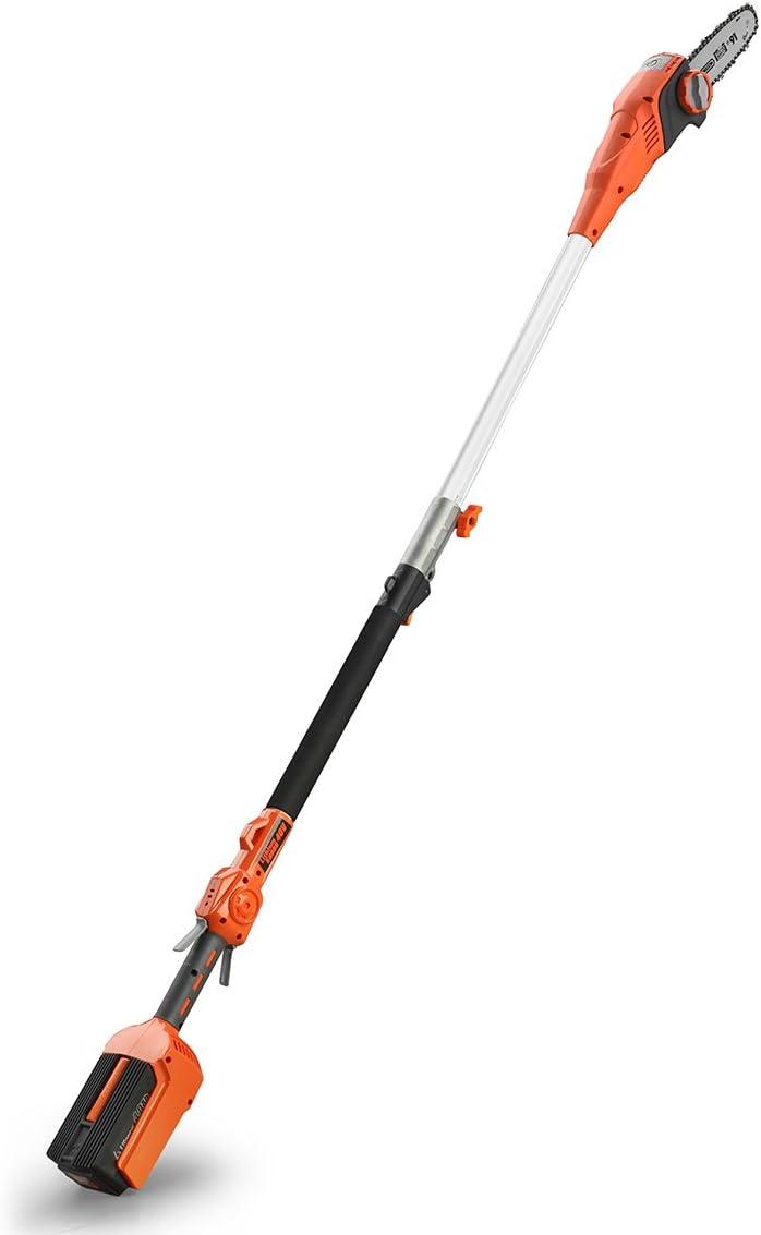 Redback | Podadora Telescópica E610D | Motosierra | Espada 25 cm | Arnés Tipo Bandolera | Barra Extensible 2 m | Velocidad de Corte 6 m/s | No Incluye Batería ni Cargador