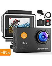 APEMAN Action Camera  A79, 4K 20MP WiFi Underwater Cam  Waterproof 40M with External Microphone and Remote Control