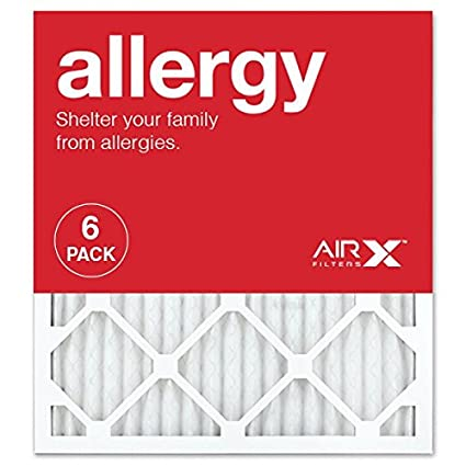 AIRx ALLERGY 14x20x1 MERV 11 Pleated Air Filter Made in the USA Box of 6