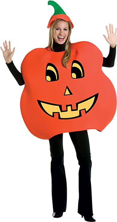 Amazon.com Adult Pumpkin Halloween Costume (Size Standard 44) Clothing  sc 1 st  Amazon.com & Amazon.com: Adult Pumpkin Halloween Costume (Size: Standard 44 ...