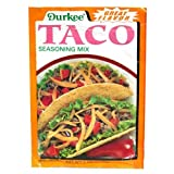 Durkee Taco Seasoning Mix, 1.125-Ounce Packages (Pack of 24)