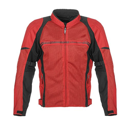 Fieldsheer Men's Hi-Flow Mesh Jacket (Red/Black, X-Large)
