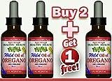 Buy 2 Get 1 Free''Super Strength'' 85% Carvacrol Wild Mediterranean Turkish 100% Eco Certified Organic Oil of Oregano