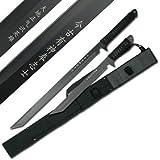 "2 Pack Combo Full Tang 27"" & 18"" Tanto Ninja Katana Sword Machete w/ Nylon Sheath"