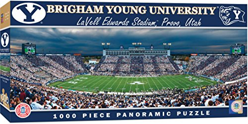 MasterPieces Collegiate BYU Cougers 1000 Piece Stadium Panoramic Jigsaw Puzzle ()