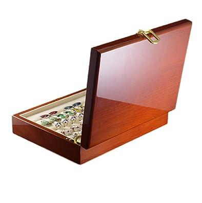 Ducomi Majestic - Caja para Gemelos, Anillos y Joyas en Madera Preciosa - Contiene más