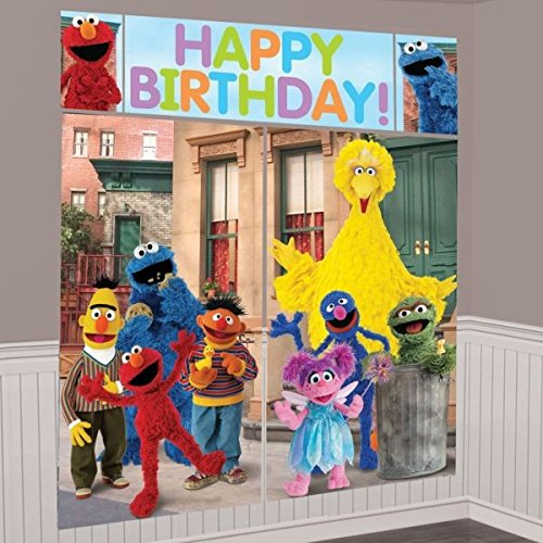 Sesame Street Birthday Decoration Ideas (Sesame Street Scene Setter Kit)