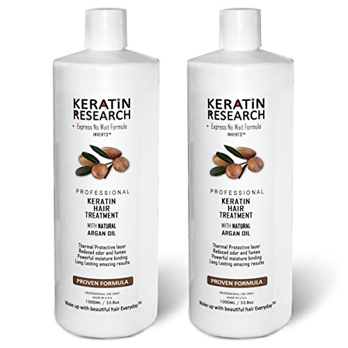 Brazilian Keratin Blowout Straightening Smoothing Hair Treatment Conditioner 2000ml 2 Liters Professional Complex Bottle by Keratin Research by Keratin Research