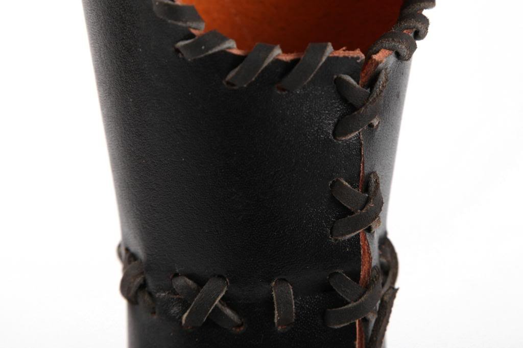 Handmade Medieval Historica Shape Black Cow Leather Arrows Quiver CQ8 by Longbowmaker (Image #4)