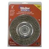 Weiler Crimped Wire Wheel 8 '' Medium Face 4000 Rpm Coarse 5/8 '' - 1/2 '' Arbor