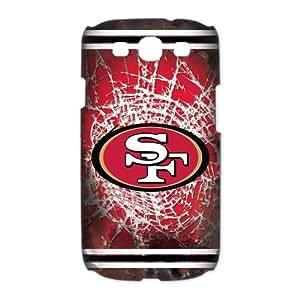 Godstore Custom New Style NFL San Francisco 49ers Logo Cover Hard Plastic SamSung Galaxy S3 I9300/I9308/I939 Case