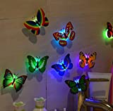 Night Light,Tuscom@ 10 Pcs LED Butterfly Wall Stickers Lights Wall Stickers 3D House Decoration: more info