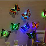 Night Light,Tuscom@ 10 Pcs LED Butterfly Wall Stickers...