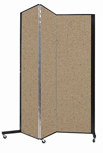 Screenflex Privacy Screen, 5.75' x 5.75', Vinyl Sandalwood by Screenflex