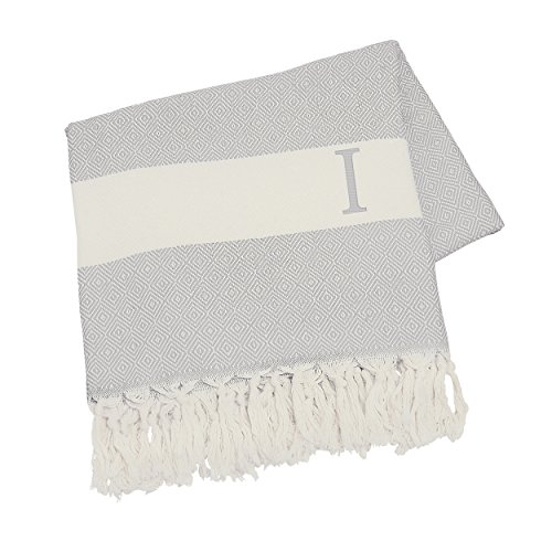 - Cathy's Concepts Personalized Turkish Throw, Letter I, Grey