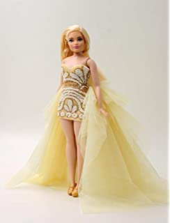 [Handmade Dress Fit For Curvy Barbie Doll ONLY]Cora Gu Handmade Mona Gown/