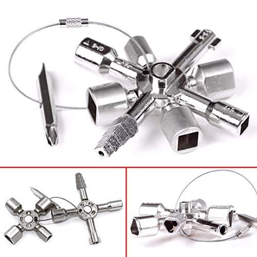 Zinc Alloy Multi-Model 10 in 1 Universal Cross Key Plumber Key Triangle for Gas Electric Meter Cabinets Bleed Radiators