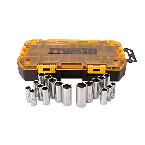 DEWALT Deep Socket Set, 20-Piece, 3/8