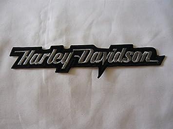 Parche para Planchar Harley Davidson Aprox. 16 x 3,5 cm Motorcycle Club Eagle Shield