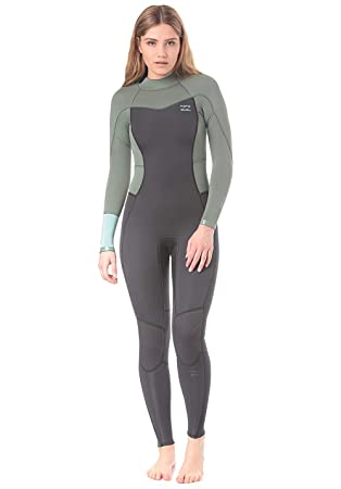 Billabong 2018 Ladies Synergy 3/2mm Flatlock Back Zip Wetsuit Moss H43G12: Amazon.es: Deportes y aire libre