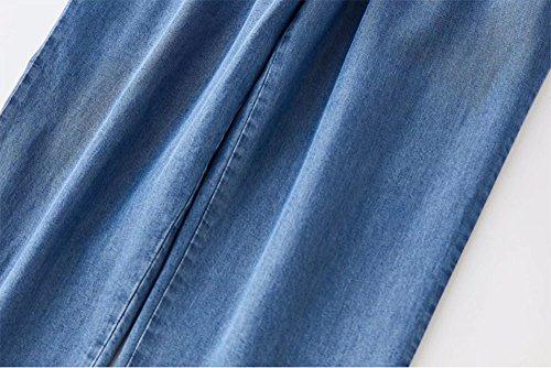 Seta Vita Casuali Elastica Di Estate Pantaloni Keephen Della Blu 2 Nuova Harem Jeans Dei wzxYqZIU