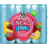 v8 fusion energy drink - V8 +Energy, Juice Drink with Green Tea, Diet Strawberry Lemonade, 8 oz. Can, 6 Count