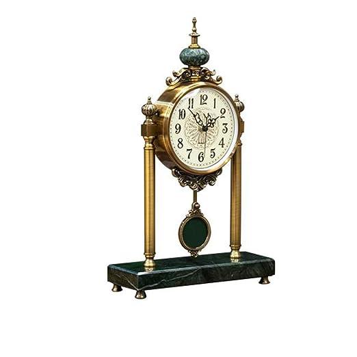 Reloj Europeo - Base de mármol Luz de Sala de Estar Reloj de Mesa ...