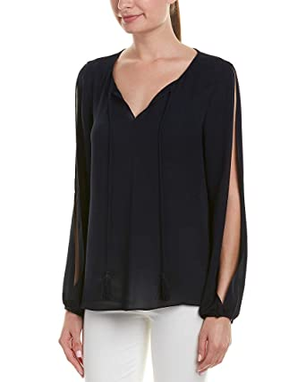 2e20b6031f525 Image Unavailable. Image not available for. Color  St. John Womens Silk Top  ...