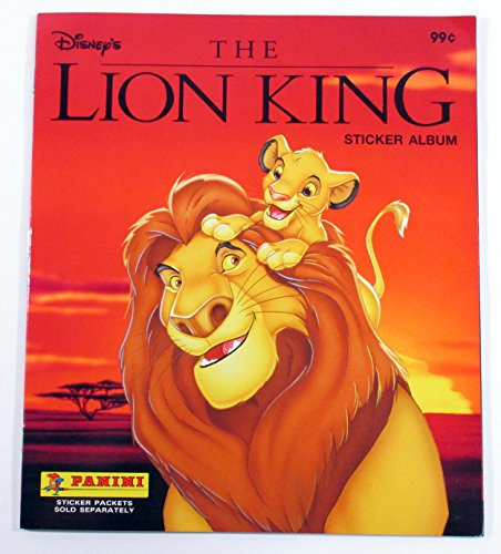 (Panini-THE-LION-KING-Sticker-Album-Book-Walt-Disney-Simba-Mufassa-unused-collect)