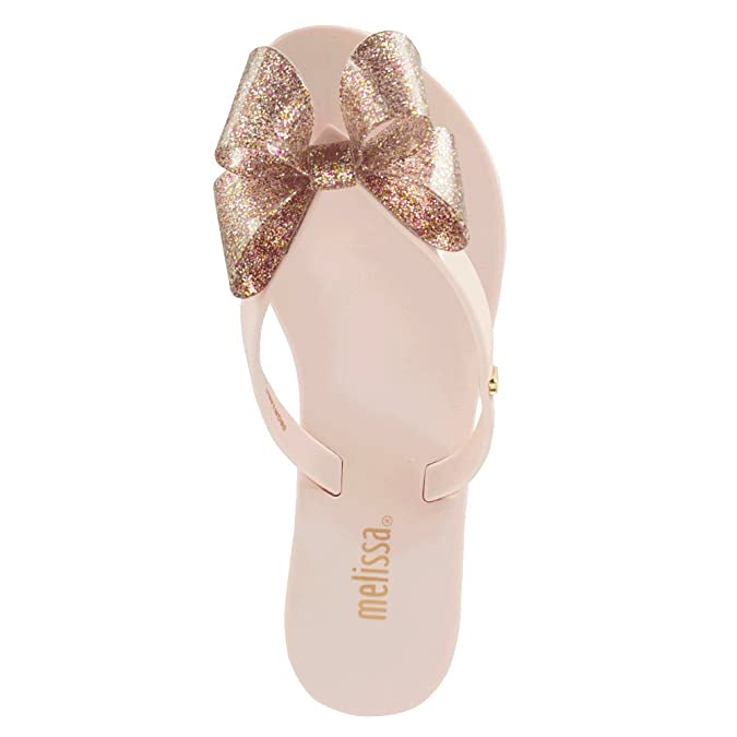 7381ad920 Melissa Pink Harmonic Glitter Bow Kids Flip Flop 1 Pink Patent   Amazon.co.uk  Shoes   Bags