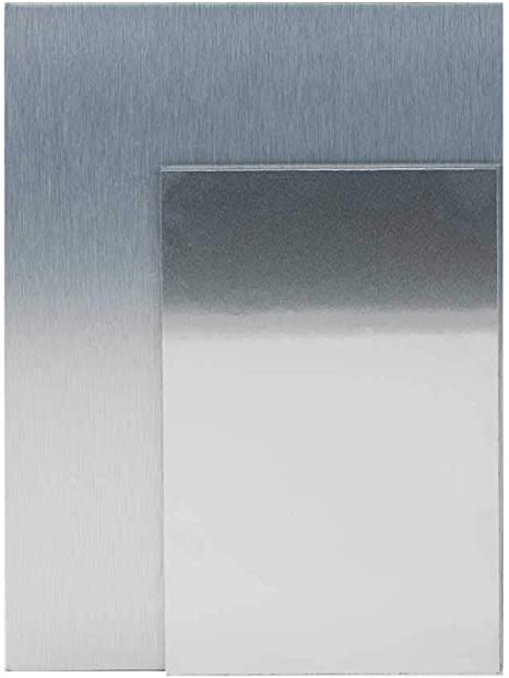 """Silver // Gold Brushed Aluminum Composite Sheet 1//8/"""" x 24/"""" x 48/"""" Sign Panel"""